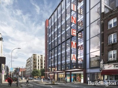 CGI of the view from King Street showing the new cinema
