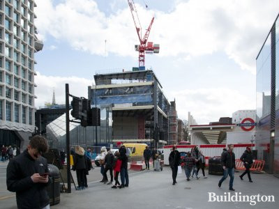 St Giles Circus under construction in February 2019.