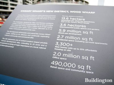 Wood Wharf development in numbers