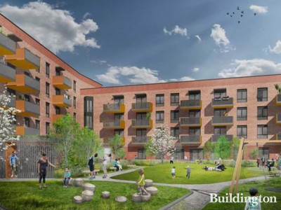 CGI of The Reach development designed by Pitman Tozer.