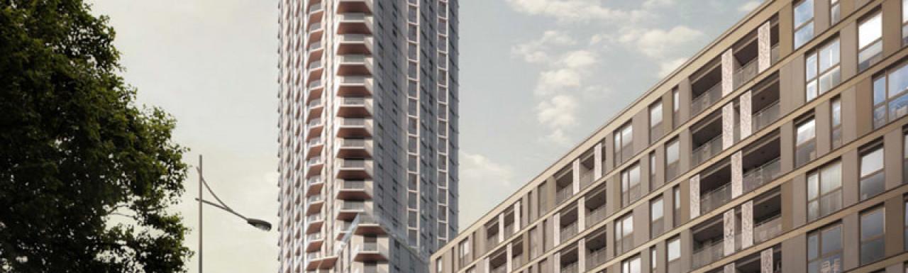 CGI of Hale Works designed by Hawkins\Brown in the development brochure.
