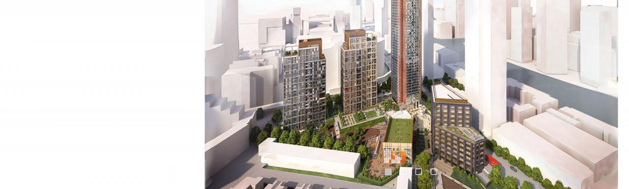 CGI of Skylines development on architect Farrell's website.