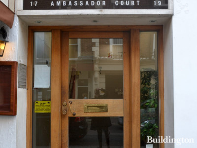 Entance to Ambassador Courtat 17-19 Craven Terrace.