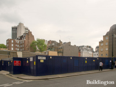 View to Audley Square development from Hill Street in May 2019.