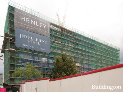 Wembley Place under construction in May 2019.
