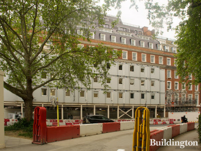 Twenty Grosvenor Square development in May 2019. View from Grosvenor Square.
