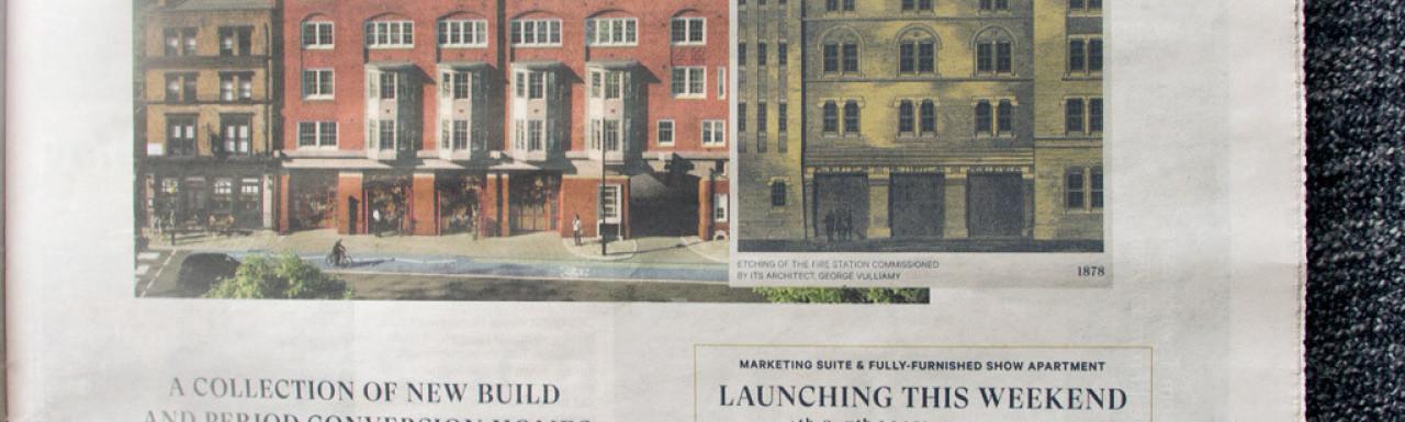 Brigade Court advert in the newspaper.