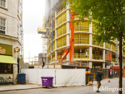 View to Marble Arch Place development from Bryanston Street.