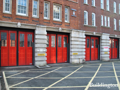 Clerkenwell Fire Station doors in 2014.