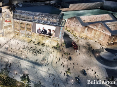 CGI of Exhibition London music venue and event space in White City, London W12.