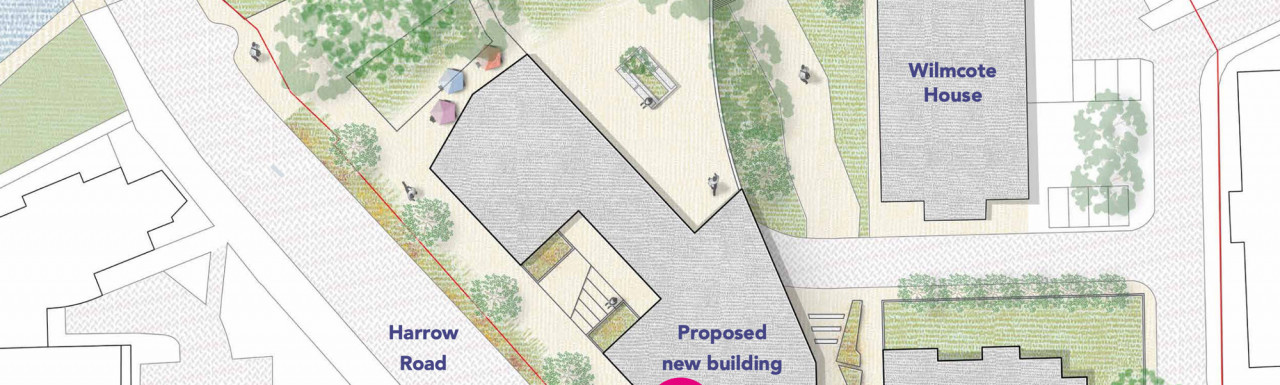 300 Harrow Road development - Indicative site plan by Child Graddon Lewis