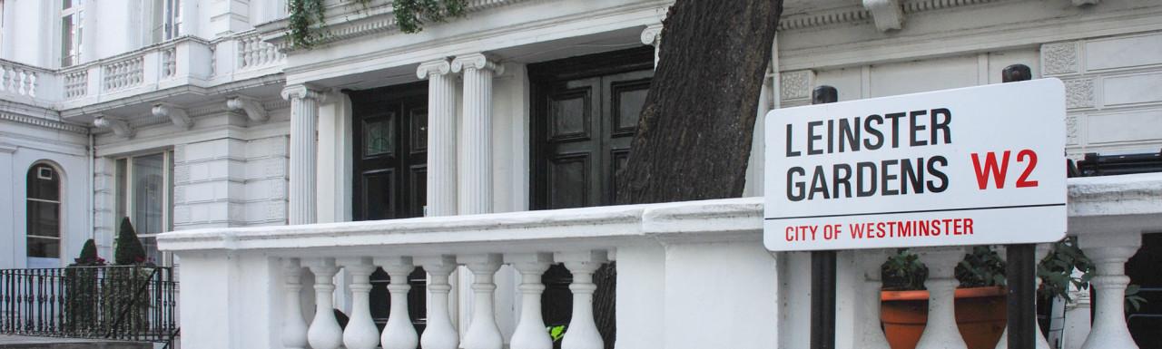 Terraced houses in Leinster Gardens