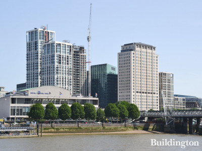 South Bank Place development on the banks of the River Thames.