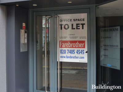 Farebrother advertises office space to let at Rapier House in June 2019.