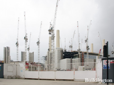 Battersea Power Station development in Summer 2019.