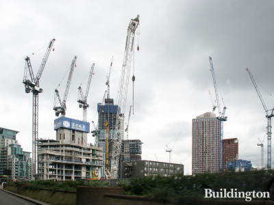 One Nine Elms development in Summer 2019. Developed by R&F Properties.