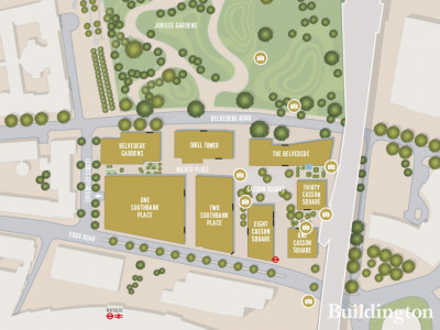 Site map/Masterplan of the Southbank Place development; screen capture from southbank-place.com.