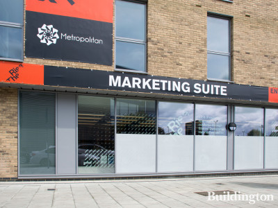 The Rise development Marketing Suite on Ealing Road, London HA0.