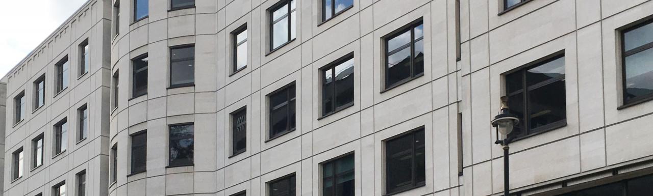 Henrietta House office building on Henrietta Place in London W1.