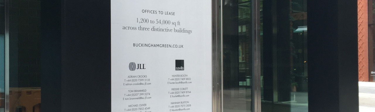 Offices to let at Buckingham Green development in August 2019.