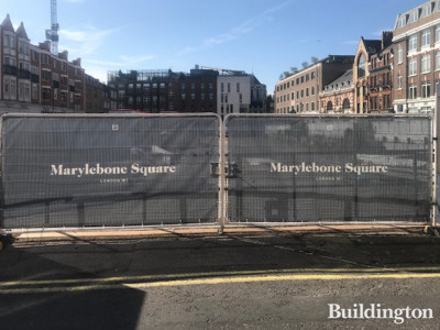 Marylebone Square development in August 2019