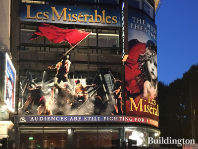 Les Miserables at the Queen's Theatre in August 2019.