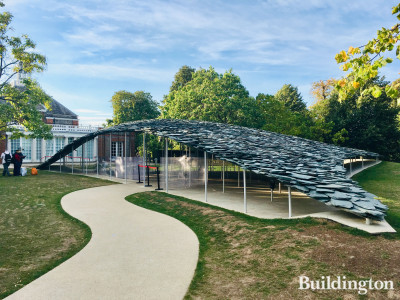 Serpentine Gallery Pavilion 2019 by Japanese architect Junya Ishigami.