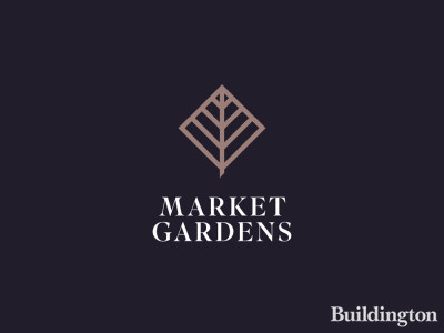 Market Gardens logo in the development brochure at peabodysales.co.uk