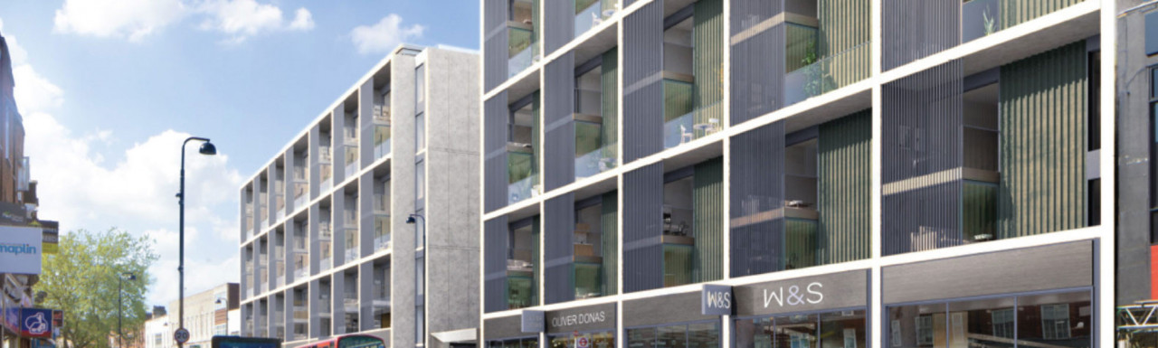 CGI of 22-42 Wood Green High Road designed by Sheppard Robson.