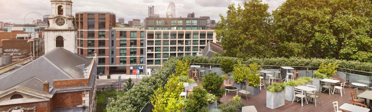 Uncommon Borough flexible offices - rooftop terrace.