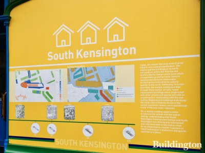 Information board at South Kensington Station