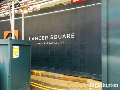 Lancer Square development hoarding on Kensington Church Street.