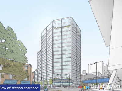 Proposed visual of the Southwark Overstation Development designed by AHMM.