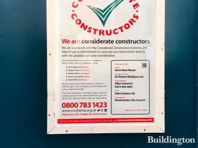 Considerate Constructors banner at Ilona Rose site.