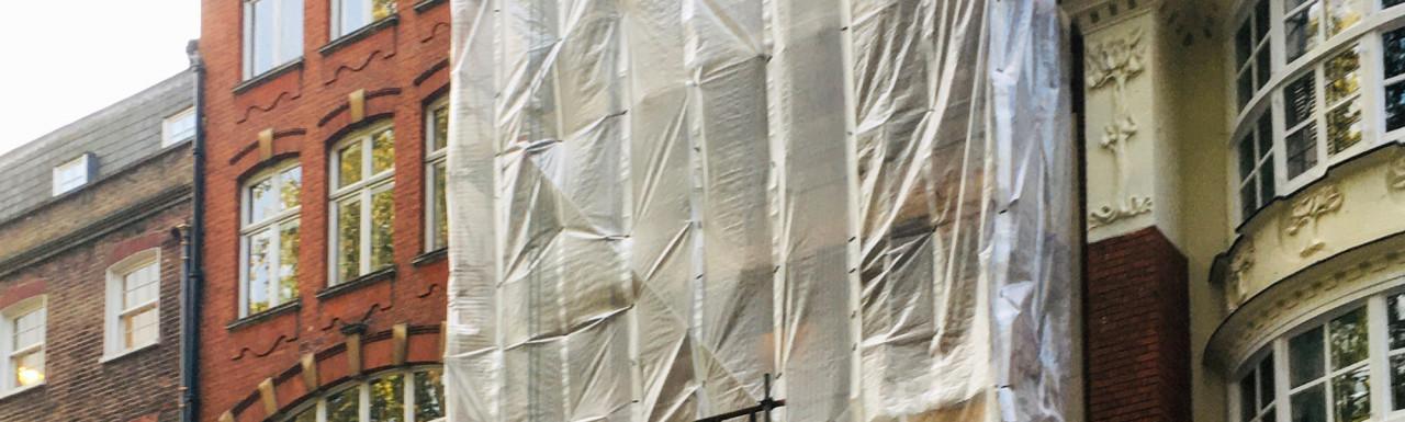 2 Soho Square building redevelopment in progress.