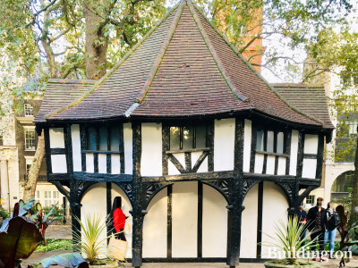 Garden enclosure building on Soho Square in London W1.