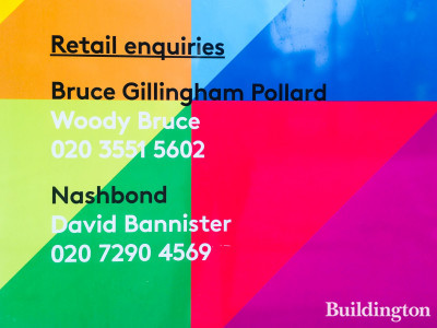 Retail agents at One Sherwood Street are Bruce Gillingham Pollard and Nash Bond.