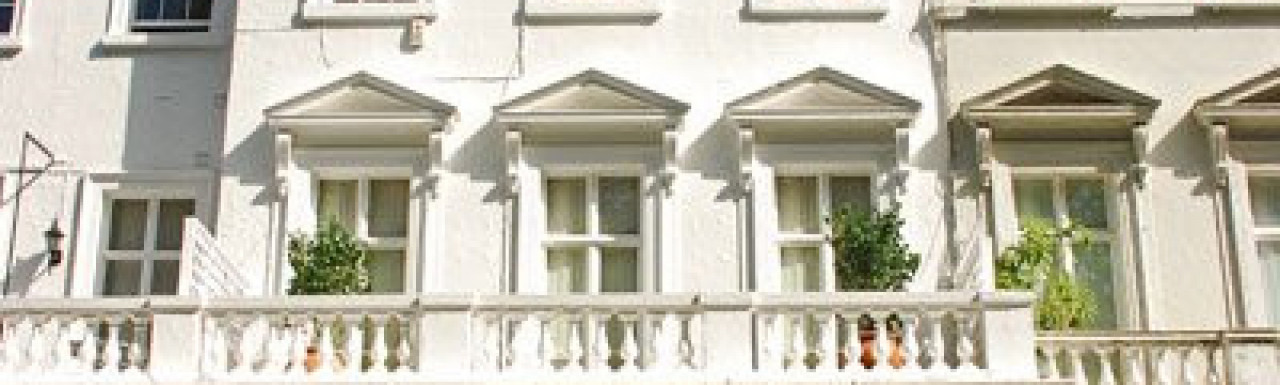14 Lowndes Square terraced house overlooking the gardens in London SW1.