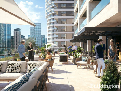 Residents' terrace at 10 George Street managed by Vertus.