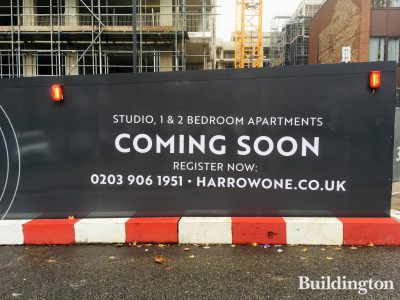 Harrow One - Studio, 1 and 2 bedroom apartments comping soon. Register at Harrowone.co.uk.