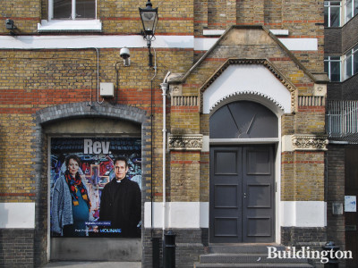 Rev. Series 3 (bigtalk productions, post production by Molinaire) advertised at 41-43 Foubert's Place building in Soho, London W1