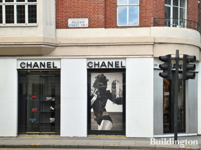Chanel store windows at Crompton Court in 2012.