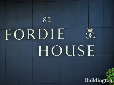 Fordie House signage on Sloane Street.