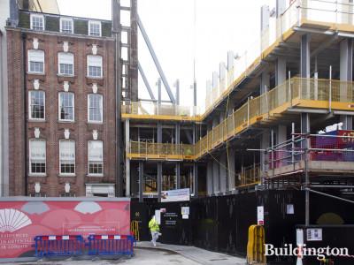 The Residences Mandarin Oriental Mayfair London under construction.