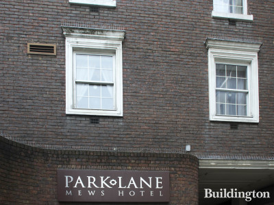 Park Lane Mews Hotel windows on Shepherd Street.