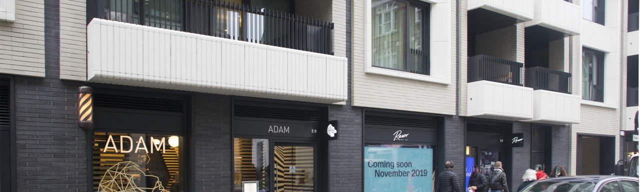 Adam at 39 Rathbone Place and Rawr opening in November at 38 Rathbone Place. Rathbone Square development.