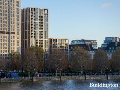 Belvedere Gardens building next to the Shell Centre, facing the River Thames