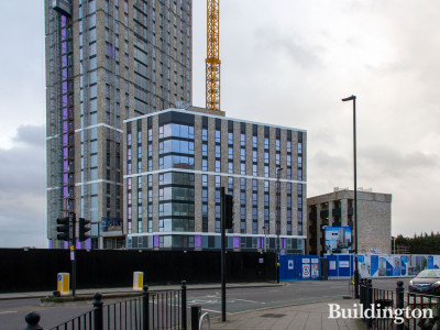 New student halls development by Imperial College on 140 Wales Farm Road, North Acton, london W3.