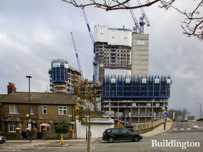 View from Old Oak Lane - Oaklands Rise development under construction.