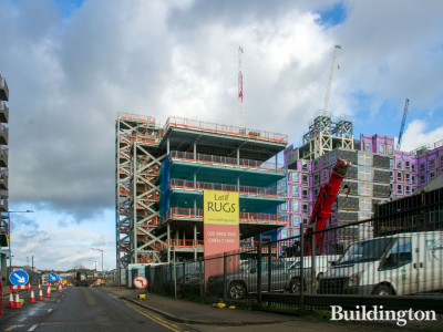 Wembley First Way student accommodation under construction in December 2019.